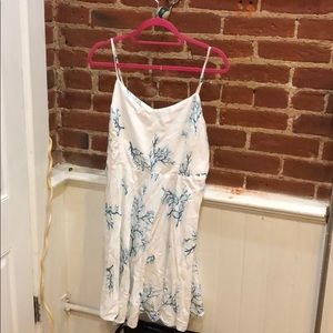 Turquoise and white coral sundress XL